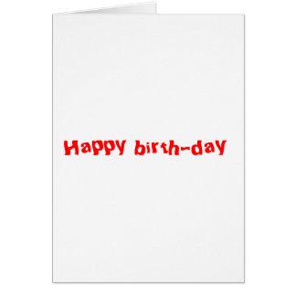 happy birth-day card