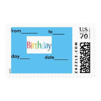 Happy birth day Card Postage