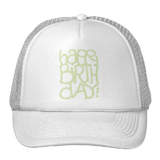 Happy Birth Day green Hat