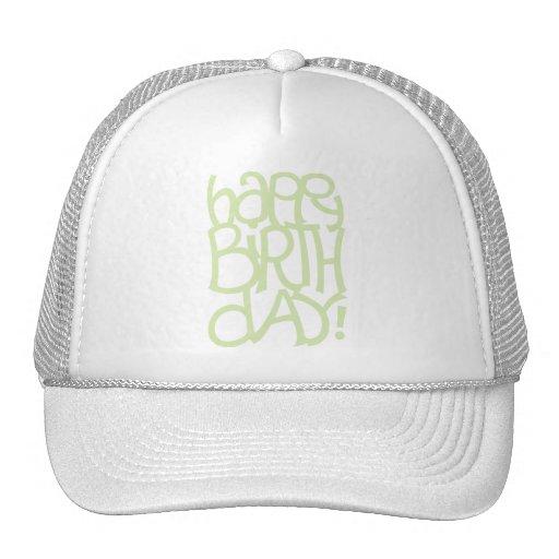 Happy Birth Day green Hat