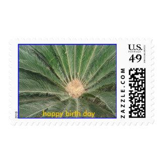happy birth day postage stamp