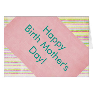 Happy Birth Mother's Day Card with Love