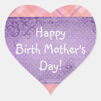 Happy Birth Mother's Day! Heart Sticker