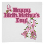Happy Birth Mothers Day Poster