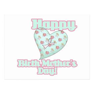 Happy Birth Mothers Day Ribbon Heart Postcard