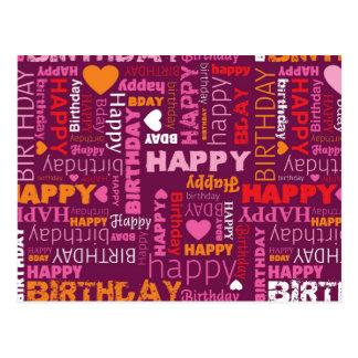 Happy birthdat congratulations postcard