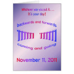 Happy Birthday 11-11-11 palindrome Cards