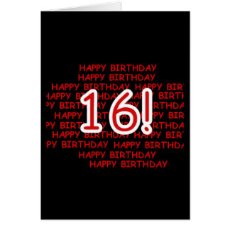 Happy Birthday 16 Card