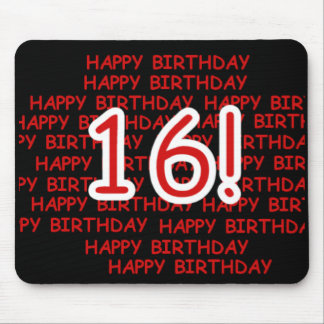 Happy Birthday 16 Mouse Pad