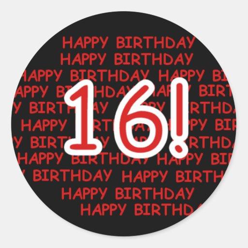 Happy Birthday 16 Sticker