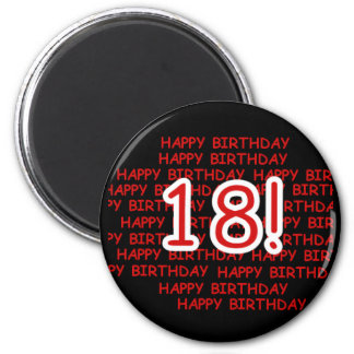 Happy Birthday 18  Magnet