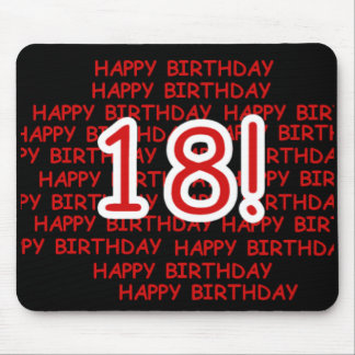 Happy Birthday 18  Mouse Pad