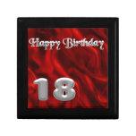 Happy Birthday 18 - red silk Gift Box