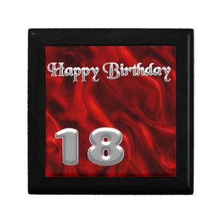 Happy Birthday 18 - red silk Trinket Boxes