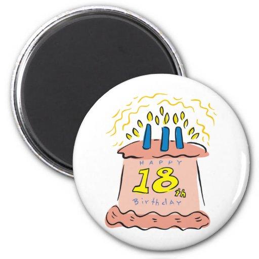 Happy Birthday 18th Birthday Gifts Refrigerator Magnet