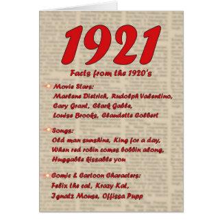 Happy Birthday 1921 Year of Birth 20's 20s twentie Card