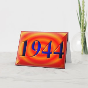 Happy Birthday 1944 Year Of Birth 40s Forties Card
