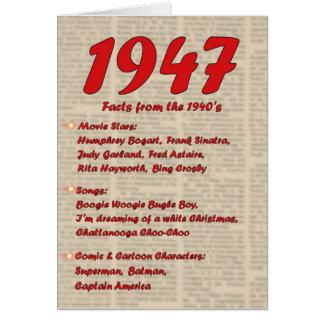 Happy Birthday 1947 Year of birth news 40's 40s Card
