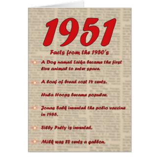 Happy Birthday 1951 Year of birth news 50's 50s Card