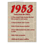 Happy Birthday 1953 Year of birth news 50's 50s Card
