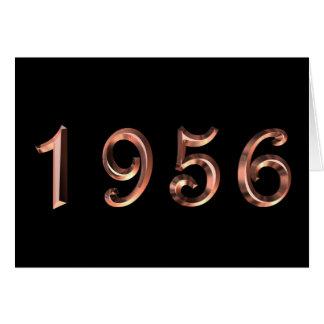 Happy Birthday 1956 Year of Birth 50's 50s fifties Card