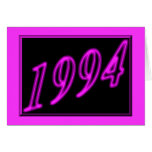 Happy Birthday 1994 Year of birth Neon 90's 90s Greeting Cards