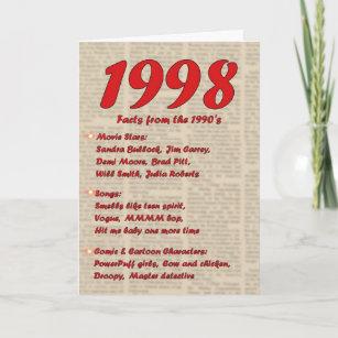 Happy Birthday 1998 Year Of Birth News 90s Card