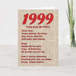 Happy Birthday 1999 Year Of Birth News 90s Card