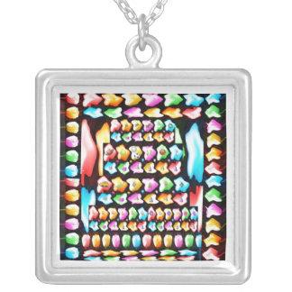Happy Birthday 2011 JAN 08 Square Pendant Necklace