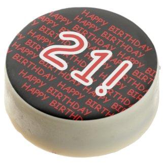 Happy Birthday 21 Dipped Oreos