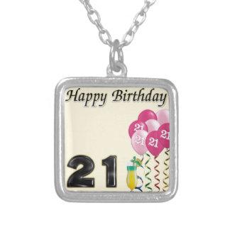 Happy birthday - 21st necklace