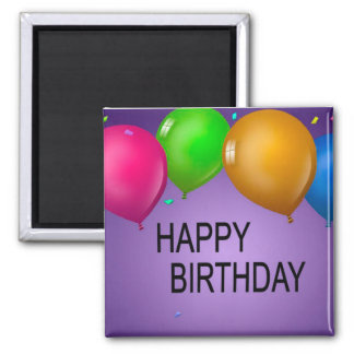 happy birthday 2 inch square magnet