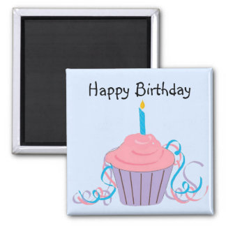 Happy Birthday 2 Inch Square Magnet