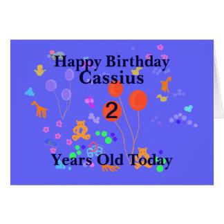 Happy Birthday 2 year old Add name Card
