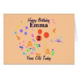Happy Birthday 2 year old Greeting Card