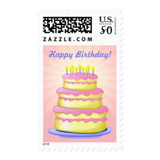 Happy Birthday 3 tier cake Postage