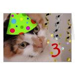 Happy Birthday 3 Year Old Greeting Card