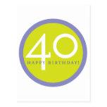 Happy Birthday, 40! Postcard