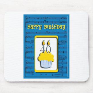 Happy Birthday 40th Mouse Pad
