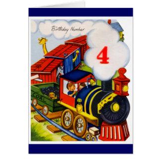 Happy Birthday - 4 Year Old Boy Card