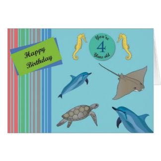 Happy Birthday 4 year old Card