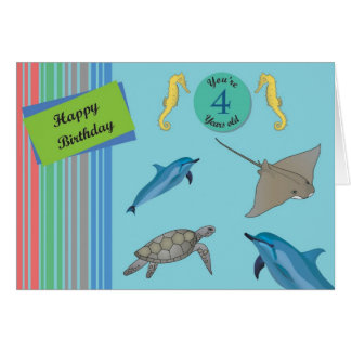 Happy Birthday 4 year old Greeting Cards