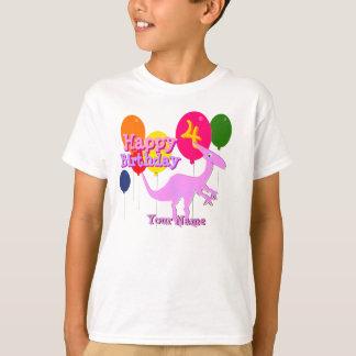 Happy Birthday 4 Years Balloon Dinosaur T-Shirt
