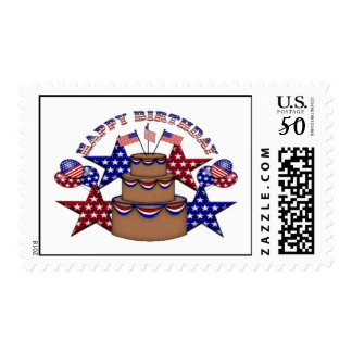Happy Birthday 4th of July Postage