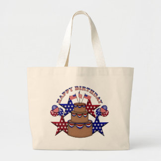 Happy Birthday 4th of July Tote Bags