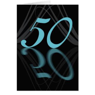 Happy Birthday 50 stylish, mirror 50, 50th birthda Greeting Card