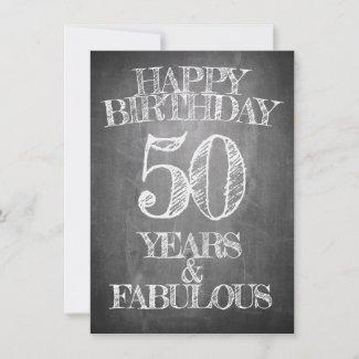 Happy Birthday - 50 Years & Fabulous