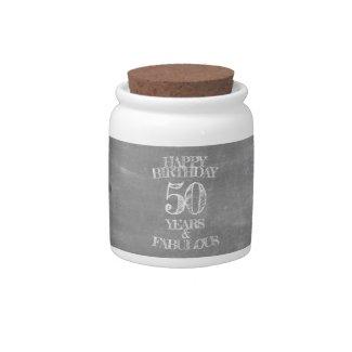 Happy Birthday - 50 Years & Fabulous Candy Jar