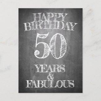 Happy Birthday - 50 Years & Fabulous Holiday Postcard