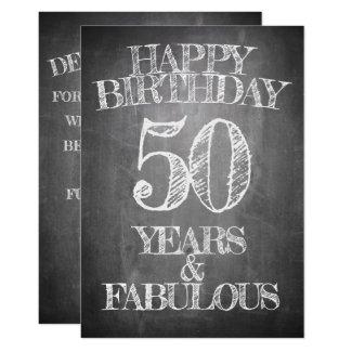 Happy Birthday - 50 Years & Fabulous Invitation